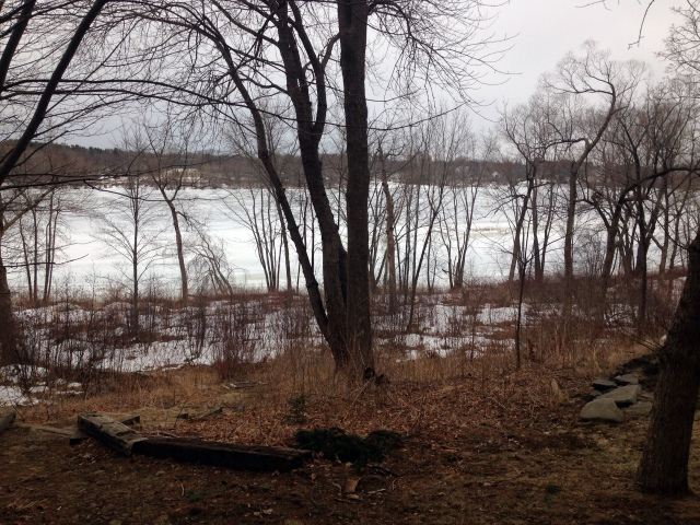 Androscoggin still frozen March 26, 2014